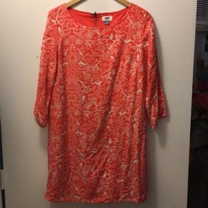 Women's orange patterned old navy dress